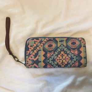 Aztec print wallet